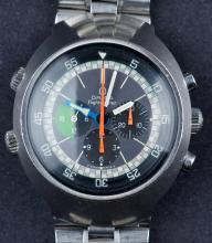 Vintage 1970 Omega Flightmaster Chronograph Wristwatch