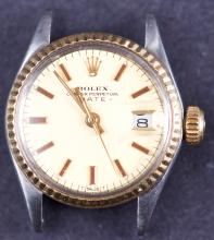 Vintage Ladies Rolex Two Tone Date Watch 6517