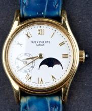 Vintage 1960's Ladies 18 Kt Gold Patek Philippe 4856 Moonphase