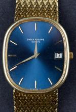 Circa 1970's 18 Kt Gold Patek Philippe Ellipse Date Mens Dress Watch