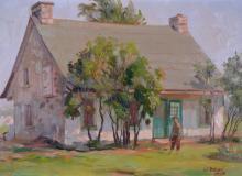 Bruni, Umberto - Vieille maison à la montée St Léonard - 1952