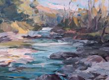 Basque, Léonard Parent (1927- ) La rivière et son lit (1980)