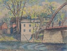 Ryshpan, Myer (1898-1984) Bridge at Lexington (1943)