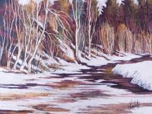 Vincelette, Roméo (1902-1979)   Rawdon Printemps dégel
