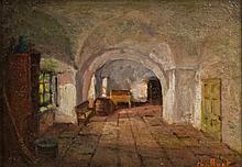 Huot, Charles Édouard Masson (1855-1930) Les caves du séminaire de Québec