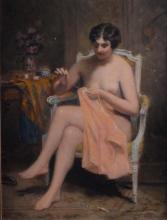Landré, Louise Amélie - Brodeuse nue