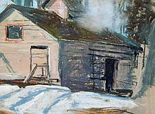 Hennessey, Frank Charles (1893-1941)  Cabin with smoke