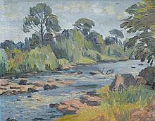 Beder, Jack (1910-1987)  River rapids (1954)