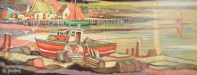 Desrosiers, Jean Guy (1934- )  Crepuscule maritine, Maine U.S.A