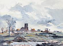 Le Dain, Bruce (1928-2000)  View to the Tattingstone Wonder, Suffolk, England (1989)