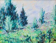 Dumouchel, Albert (1916-1971)  Paysage et coniferes
