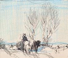 Coburn, Frederick Simpson (1871-1960)  Traineau et chevaux en hiver