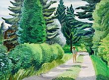 Surrey, Phillip Henry Howard (1910-1990)  Stroll on a country road (1944)