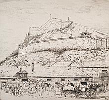 Pilot, Robert Wakeham (1898-1967)  Citadel and market in the lower town, Quebec (1927)