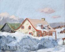 Champagne, Horace (1937- )  St-Fereol-les Neiges, Les montagnes de Charlevoix (1982)