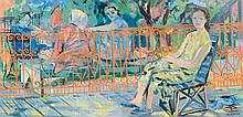 Caiserman-Roth, Ghitta (1923-2005)  The girl and the orange fence