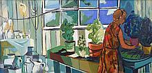 Caiserman-Roth, Ghitta (1923-2005)  Girland plants in summer house