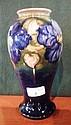 A Moorcroft earthenware vase of baluster form,