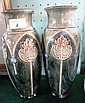A pair of Royal Doulton vases, each of cylindrical