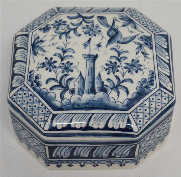HAND PAINTED COIMBRA POTTERY BOX