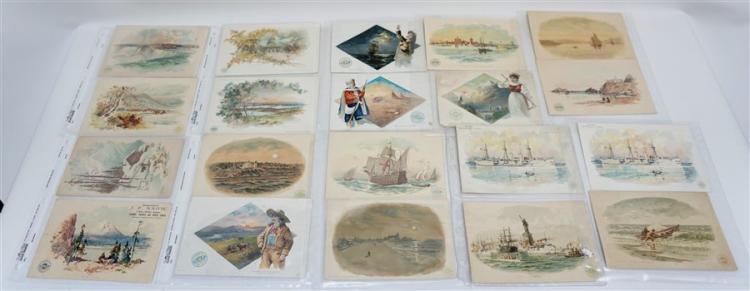 30 SCARCE CLARK'S TRADE CARDS - CONEY ISLAND +