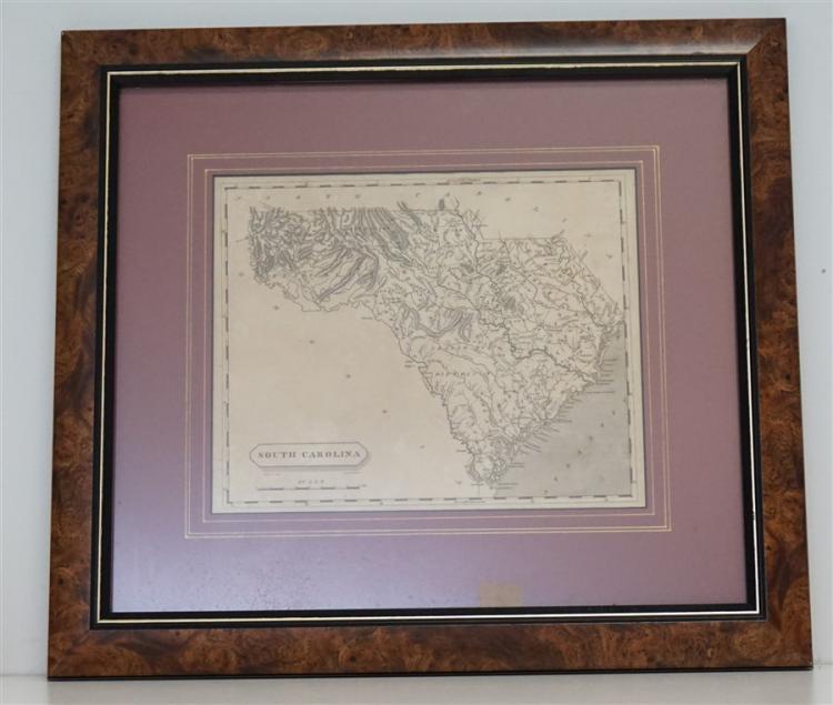 1804 MAP OF SOUTH CAROLINA - JOHN CONRAD