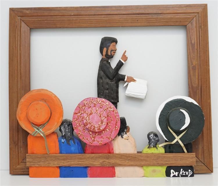 SILAS DEKIND 3D FOLK ART SUNDAY SERMON