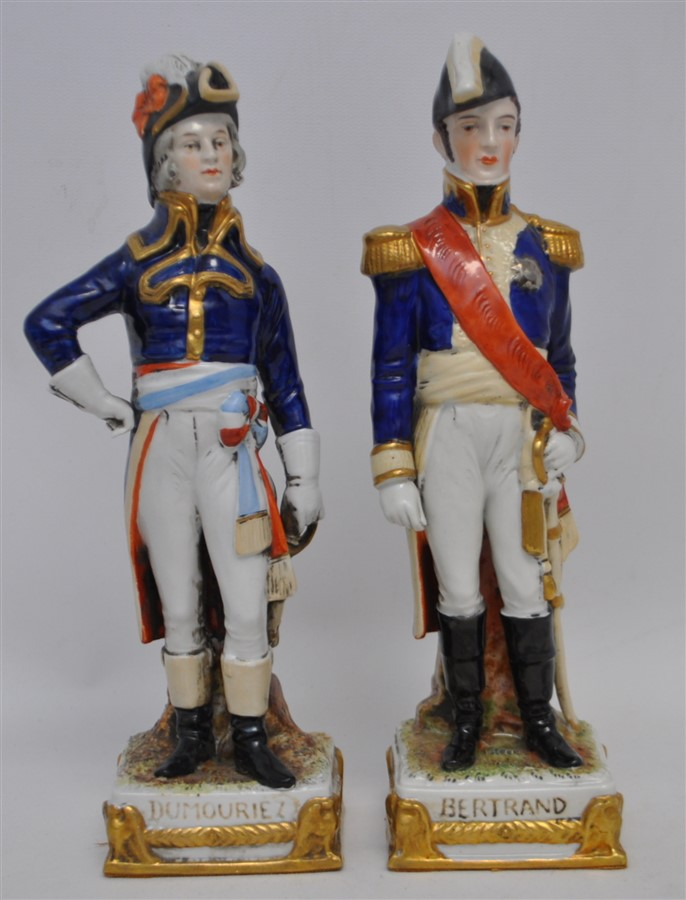 2 SCHEIBE-ALSBACH PORCELAIN NAPOLEONIC FIGURINES