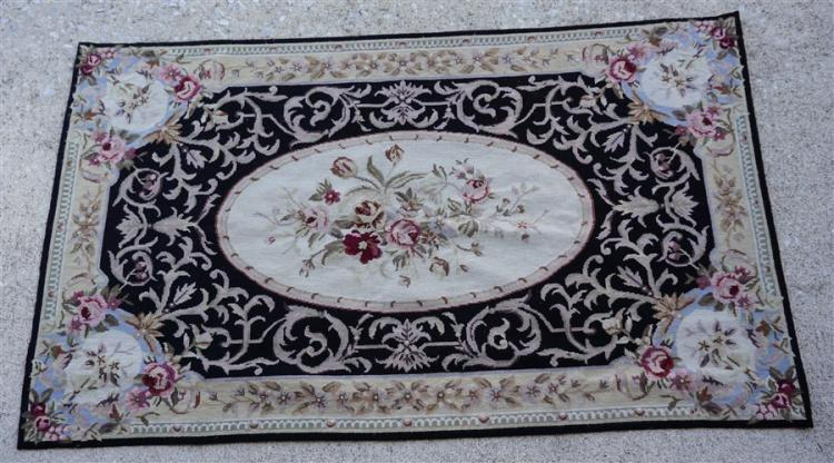 AUBUSSON HAND KNOTTED RUG / TAPESTRY