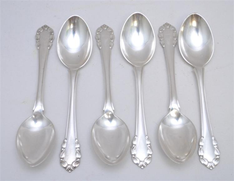 6 STERLING SILVER LILY GEORG JENSEN SPOONS