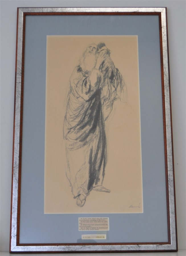 ALEX B KENNE (1904-1977) ORIGINAL SIMEON & THE CHILD JESUS