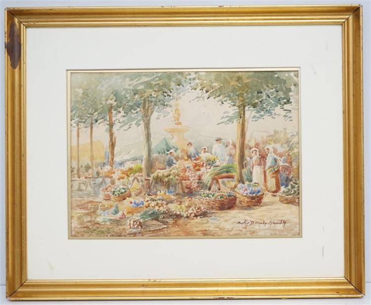 SOPHIE D'OUSLEY MEREDITH WATERCOLOR MARKET