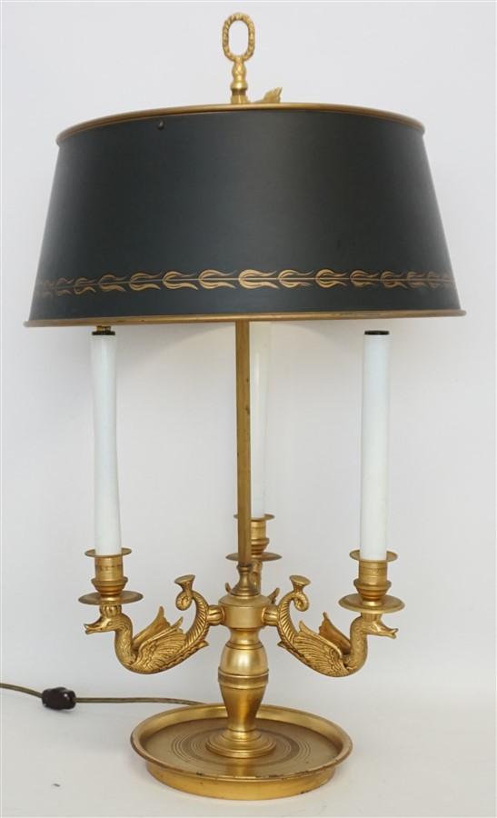 FRENCH BRONZE DORE BOUILLOTTE LAMP