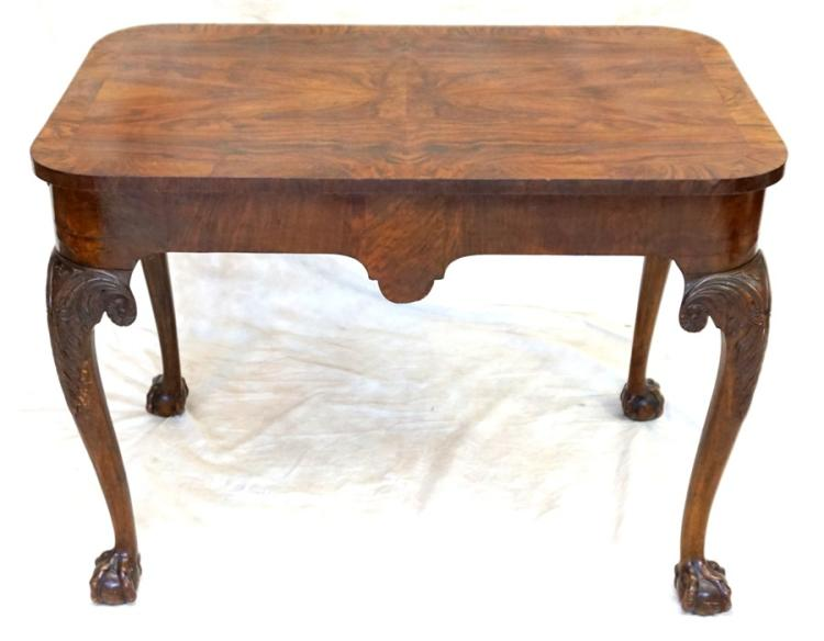 FLAME MAHOGANY CHIPPENDALE TABLE