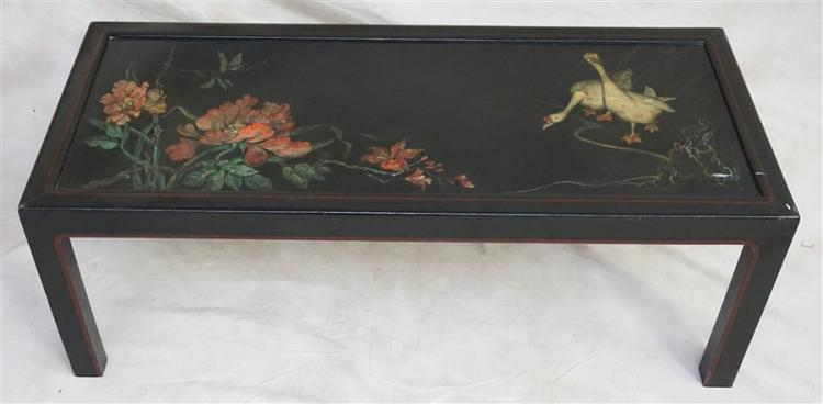CHINESE GEESE BLACK LACQUER ALTAR TABLE