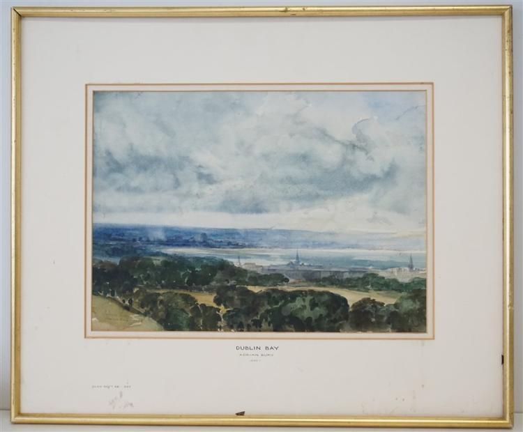 ADRIAN BURY (1893-1991) DUBLIN BAY WATERCOLOR
