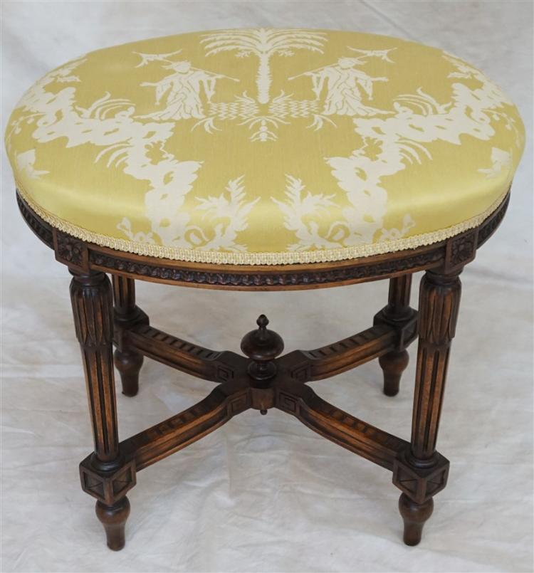 19th c. FINELY CARVED FRENCH STOOL