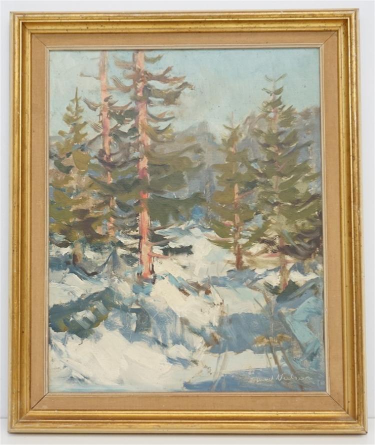 SVEND NIELSON (1908-1993) DANISH LANDSCAPE