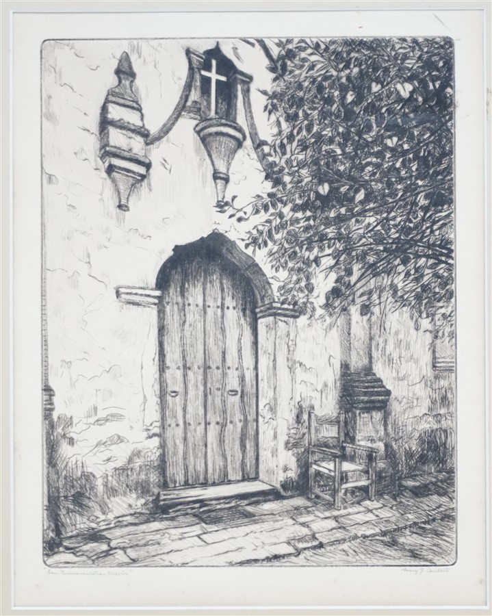 MARY J. COULTER (1880-1966) MISSION ETCHING