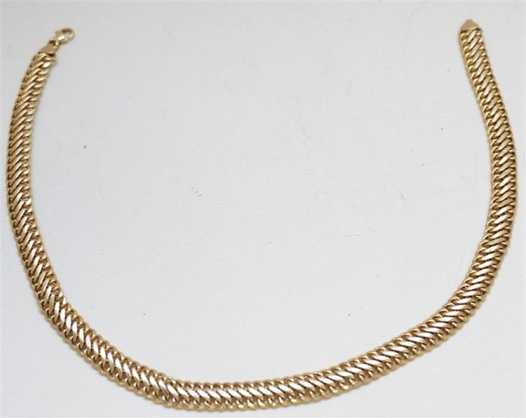 14KT GOLD FANCY LINK NECKLACE (14.40 GRAMS)