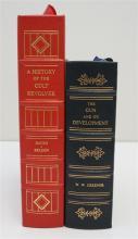 2 RARE GUN BOOKS - LARGE LEATHER BOUND ODYSSEUS EDITIONS