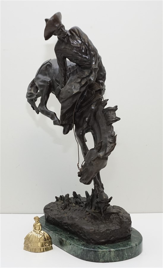 Early Frederic Remington Quot Outlaw Quot Bronze