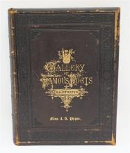 1873 ILLUSTRATED GALLERY OF FAMOUS POETS