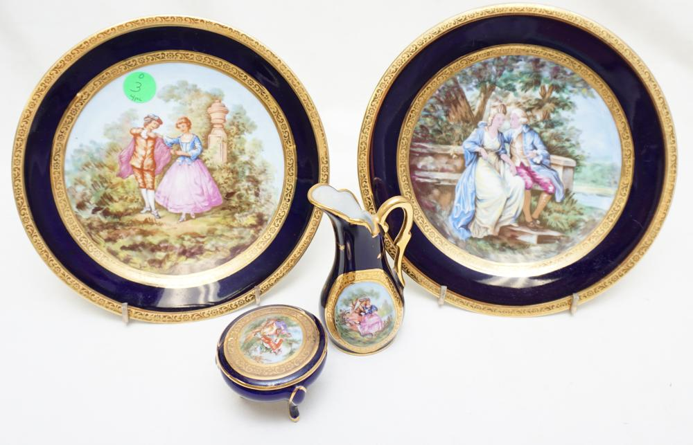 4 PC THARAUD LIMOGES PORCELAIN