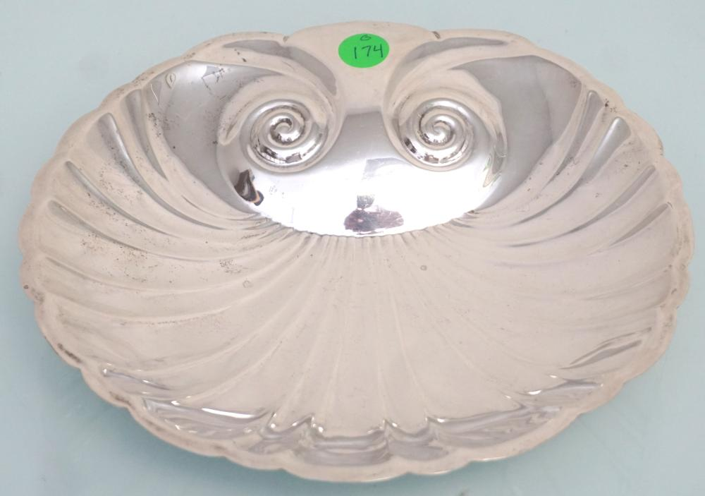 STERLING SILVER FOOTED SHELL BOWL