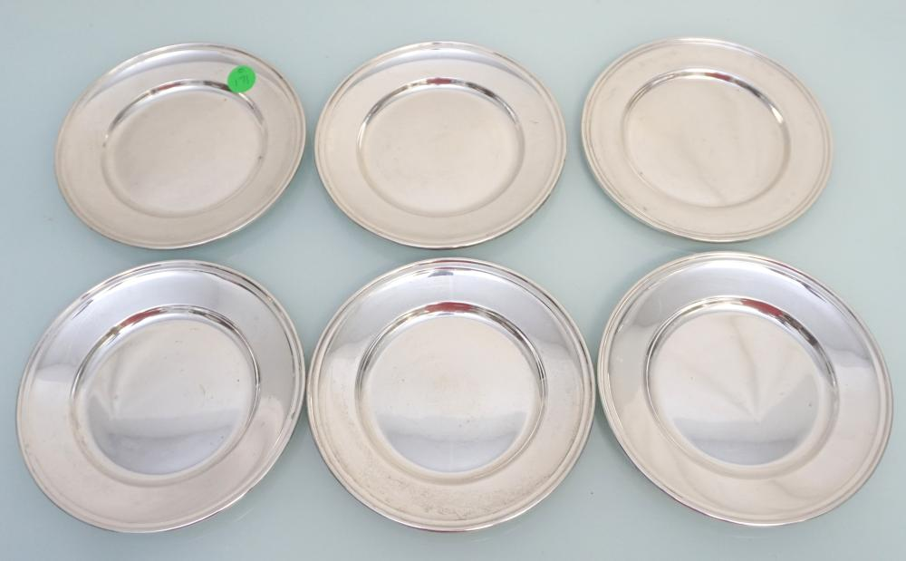 6 GORHAM STERLING OLD FRENCH BREAD & BUTTER