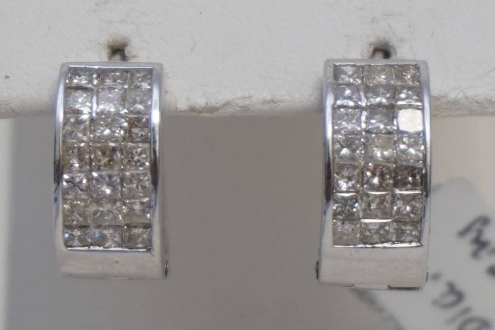 2.05CT DIAMOND HUGGIE EARRINGS