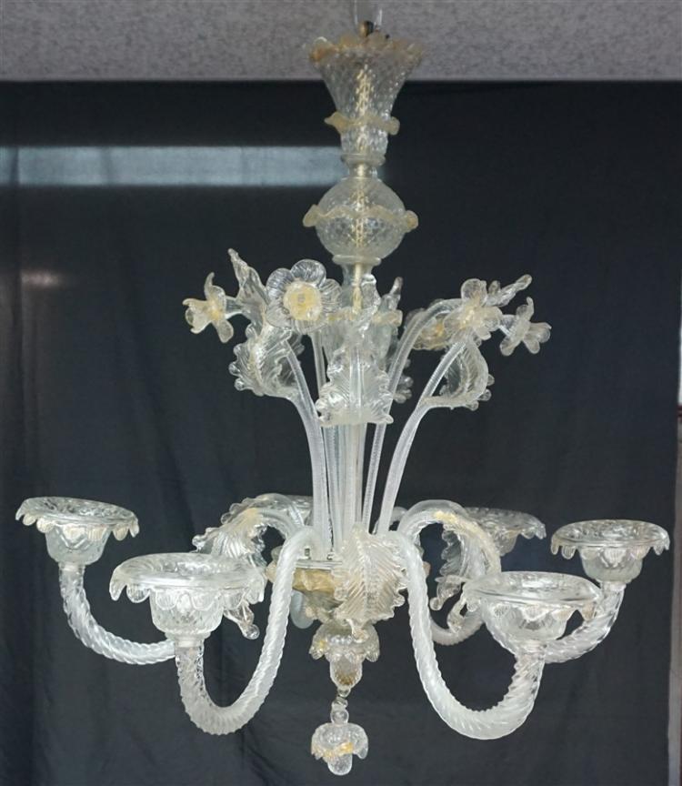 Murano Italian Art Glass Chandelier