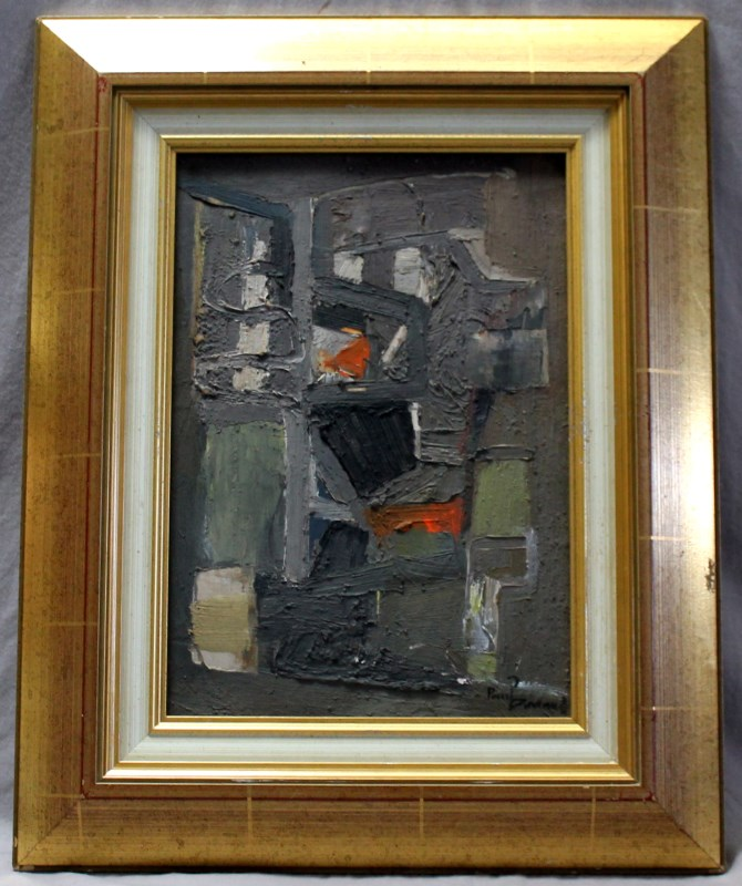PAUL DAVIAUD (Fr. 1910-2001) ABSTRACT OIL