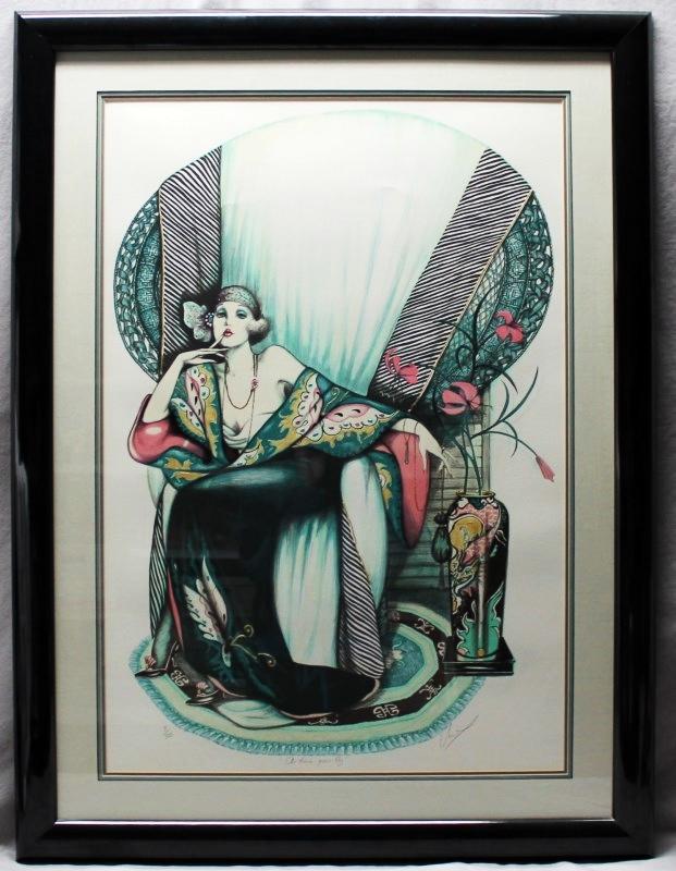 ART DECO MARY VICKERS LTD EDITION FRAMED